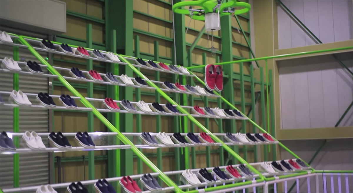 Experimental Crocs Store In Tokyo Brings You Shoes With Drone