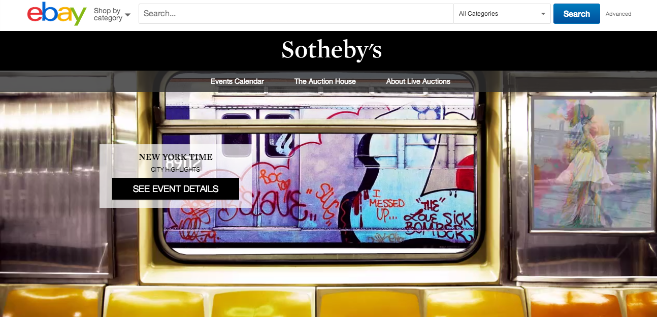 eBay and Sotheby's online auction site launched today.