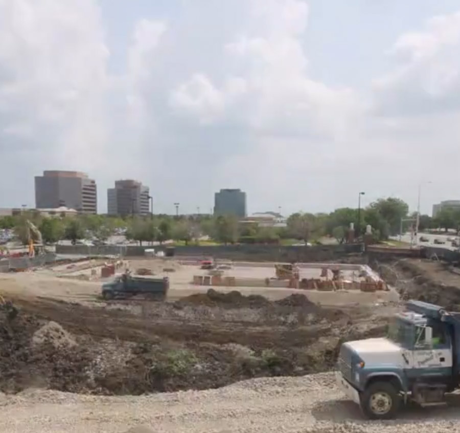 Watch Workers Replace A Retention Pond With A Trader Joe's