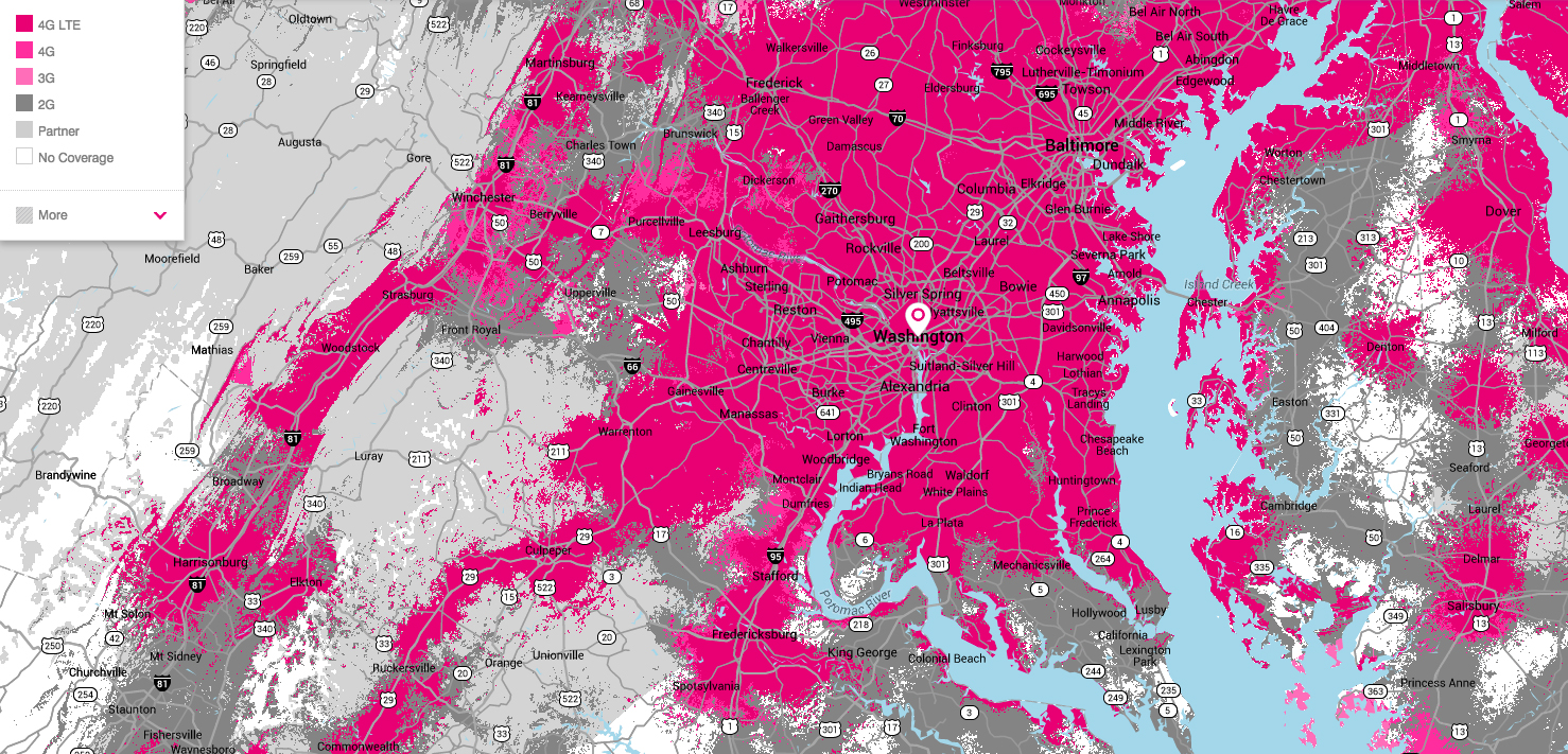 T-Mobile Decides To Base New Coverage Map On Real Data From Real ...