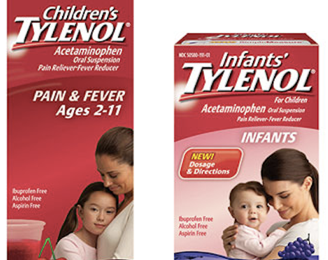 Infant and Children's Tylenol, along with Children's Motrin, were recalled in 2010 because they were found to contain metal particles.