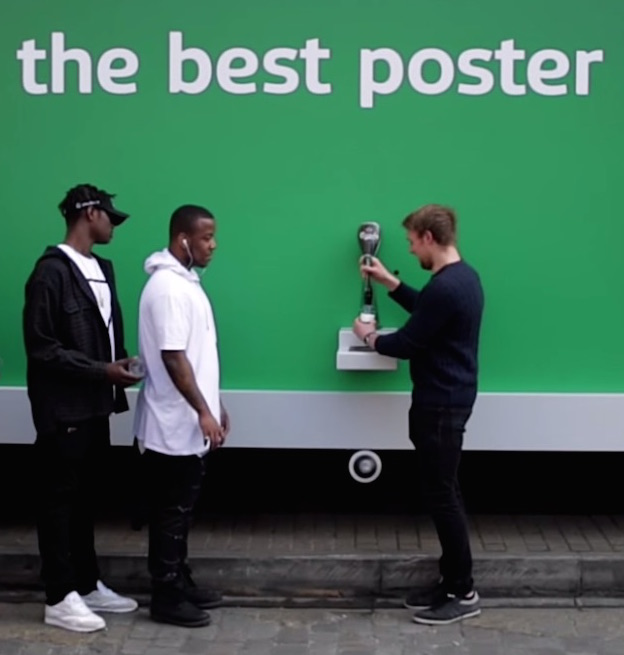 Carlsberg Outdoes Coca-Cola With Free Beer-Dispensing Billboard