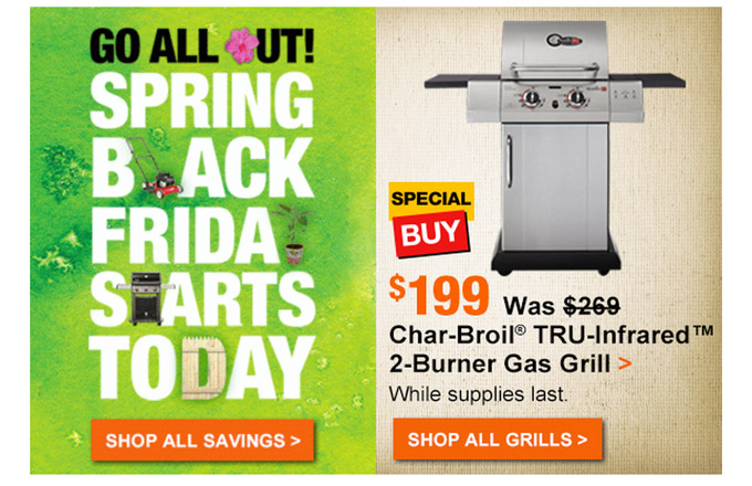 Home Depot's 'Spring Black Friday' Stupidity Is Back