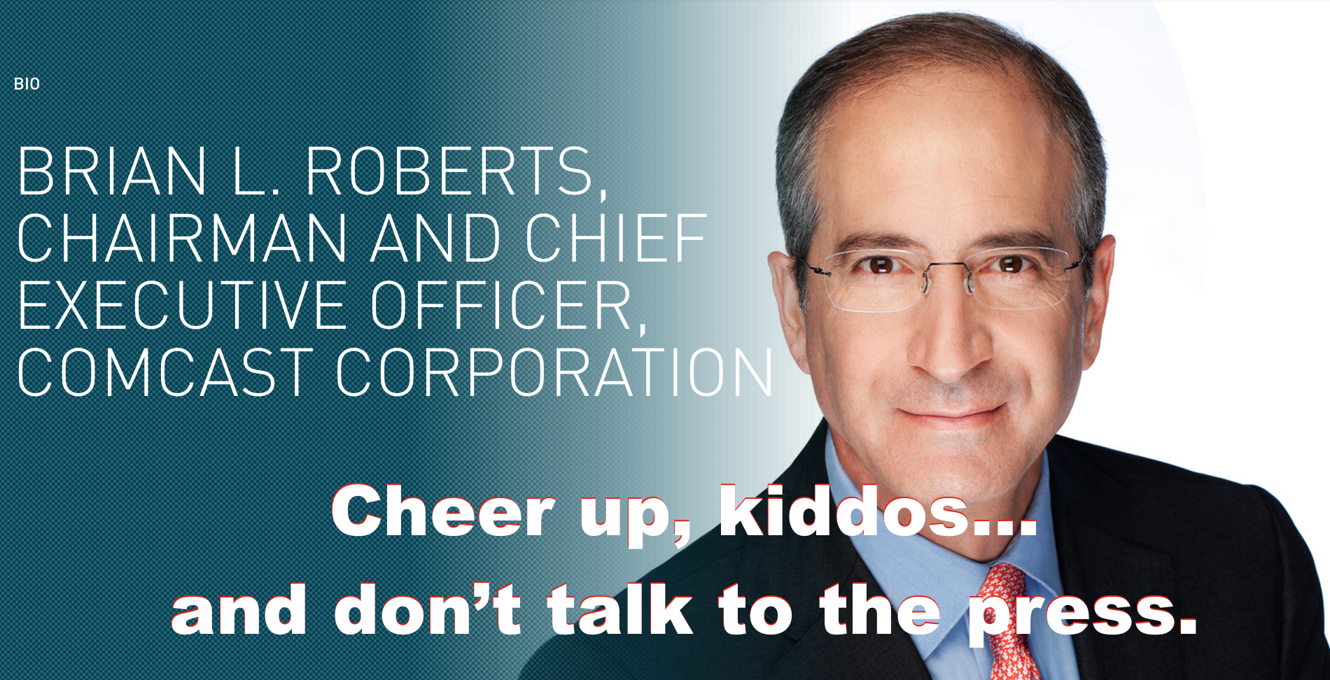 comcast ceo tries to cheer up employees following implosion of time