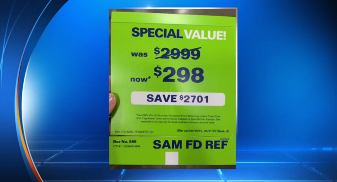 Don't Be Shocked When Lowe's Won't Sell You A $2,999 Fridge Mistakenly Priced At $298