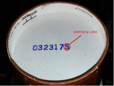 Consumers should check the bottom of their ice cream containers for a code that would link their product to a specific Blue Bell Plant. [CDC]