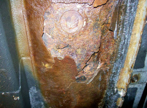 The owner of a 2002 Nissan Altima submitted photos of the vehicle's rusted-out floorboards to NTHSA.
