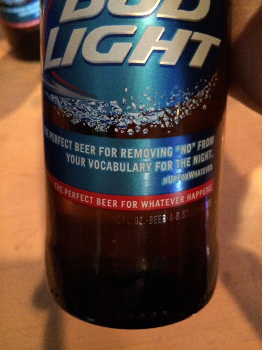 "Bud Light: We ""Missed The Mark"" On Bottle Suggesting That ""No"" Is A Drink Away From ""Yes"""