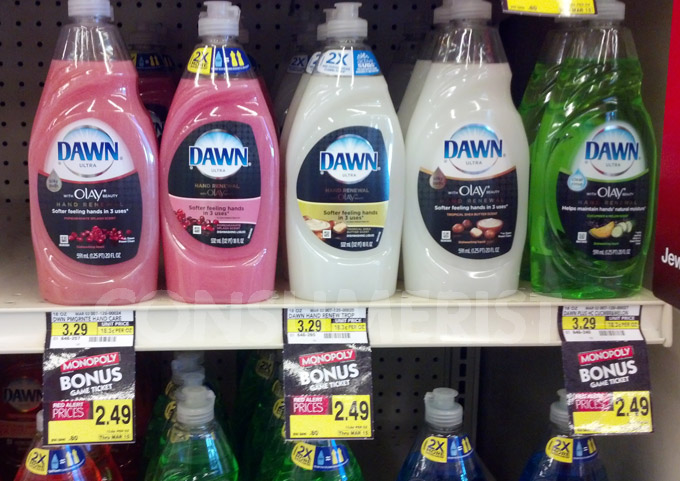 Dawn Shrinks Dish Soap 2 Ounces, Plasters Bottle With '2X More'