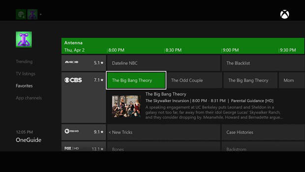 Xbox One's new live over-the-air network broadcasts could soon include a DVR option.
