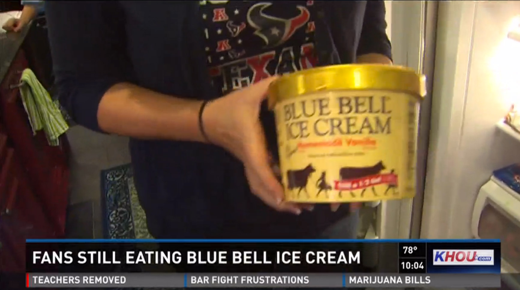 Stubborn Blue Bell Fan Keeps On Eating Potentially-Contaminated Ice Cream