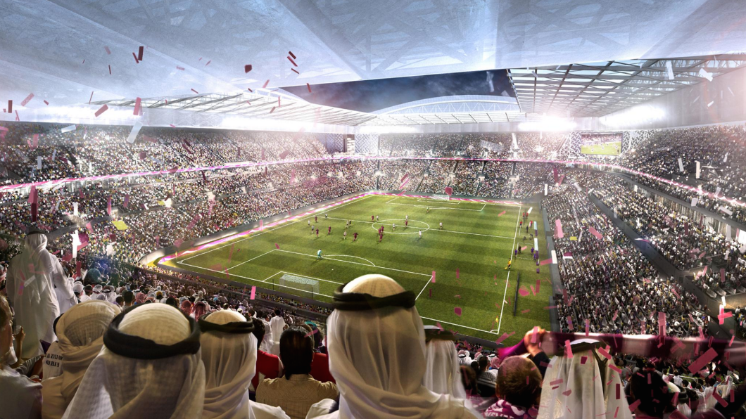 (Rendering of World Cup venue in Qatar; via FIFA)