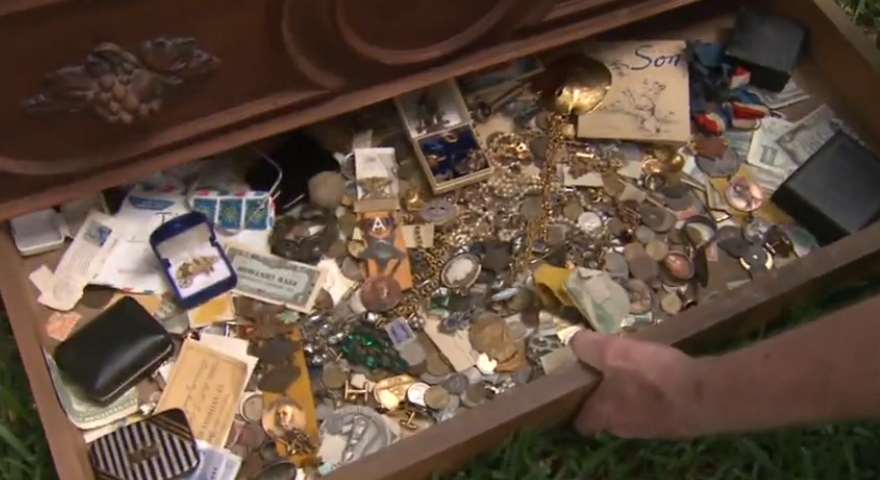 man finds literal treasure chest in dresser bought at estate sale