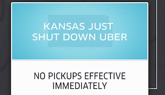 Uber Halts Operations In Kansas After Legislature Votes To Mandate Background Checks, Insurance Coverage