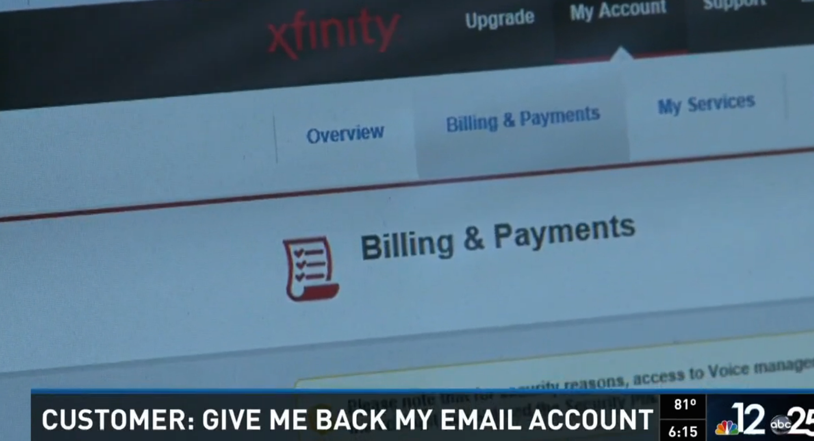 Comcast Gives Woman's E-Mail Address Away To Someone Else, But Bills Her For That Person's Service
