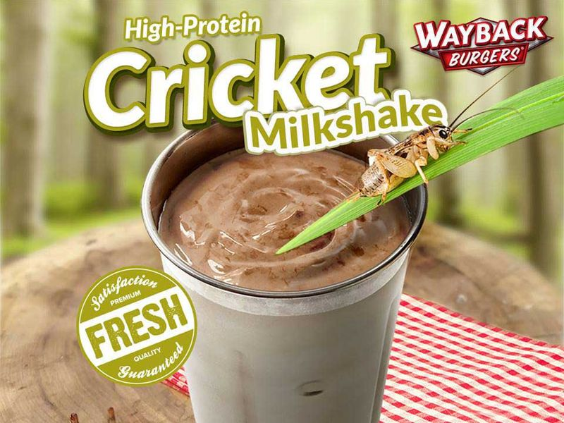 Burger Chain Turns Its Cricket Milkshake April Fool's Joke Into Real Menu Item