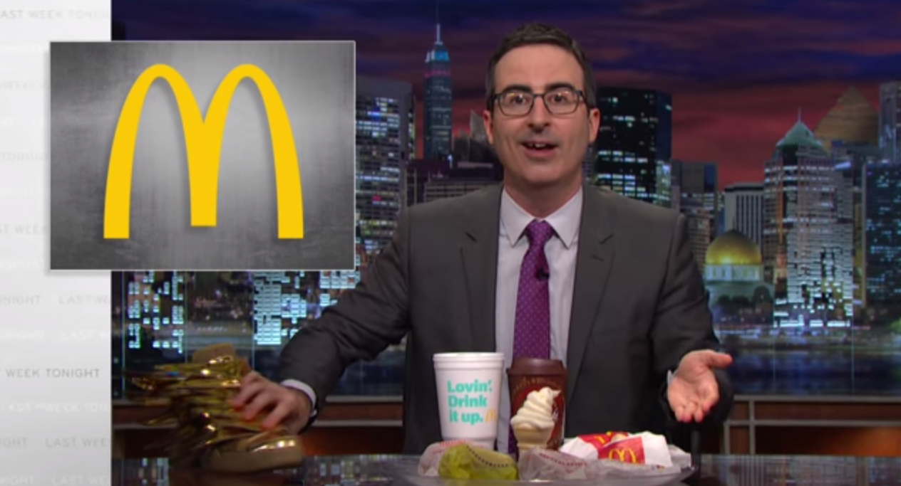 John Oliver Pledges To Eat McDonald's, Drink Budweiser If They Use Sponsorship Power To Change FIFA