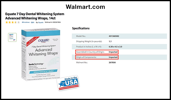 "Report Finds 100+ Walmart com Products Labeled ""Made In"