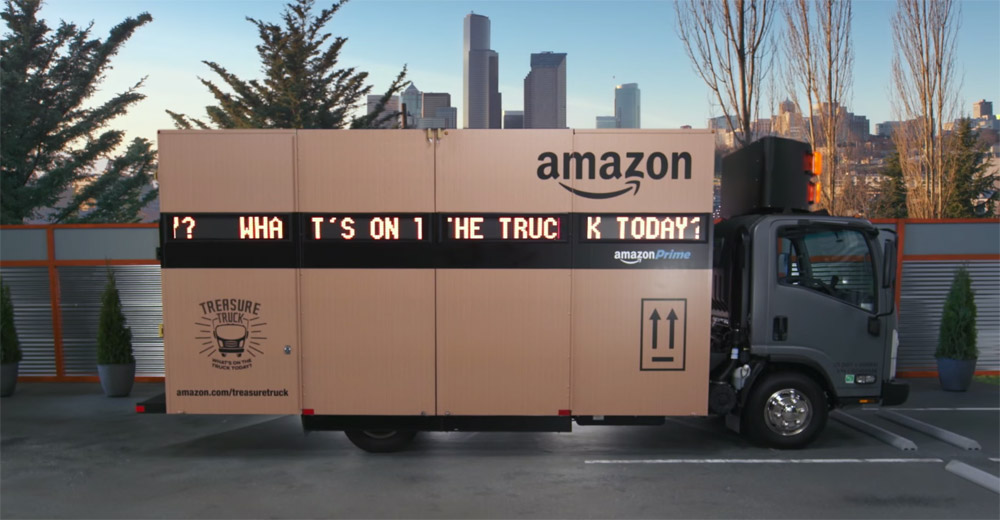 Amazon's Roving Treasure Truck Delayed In First Weekend Of Business