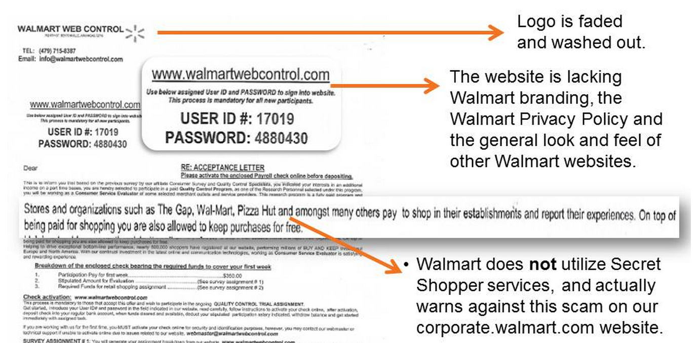 Reminder: Don't Fall For The Walmart Mystery Shopper Scam