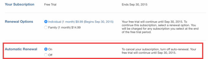 how to cancel apple music membership free trial
