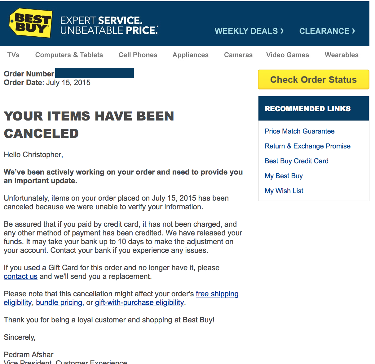 Best Buy Sells $200 Gift Cards For $15, Cancels Orders
