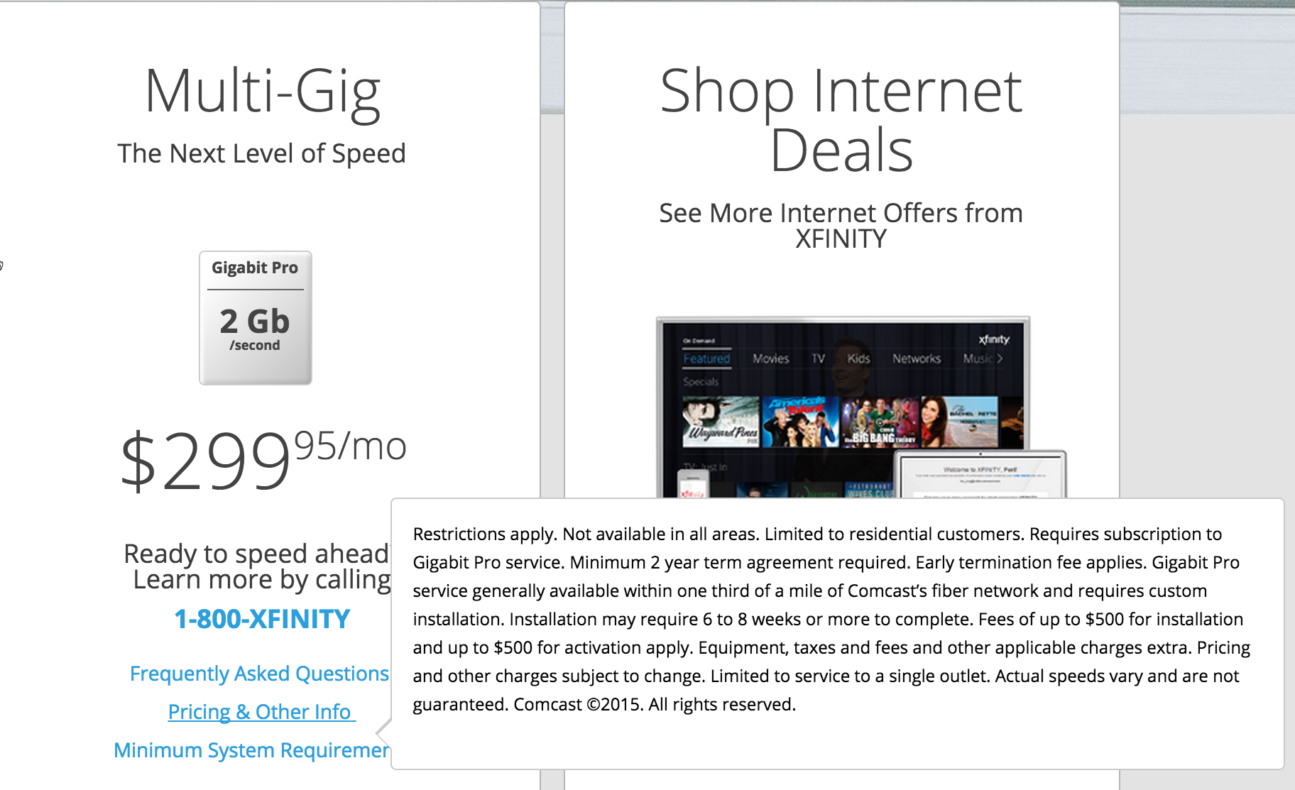 Comcast's High-Speed Fiber Service Will Cost $300/Month Just