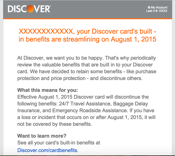 Discover Shrink Rays Credit Card Benefits