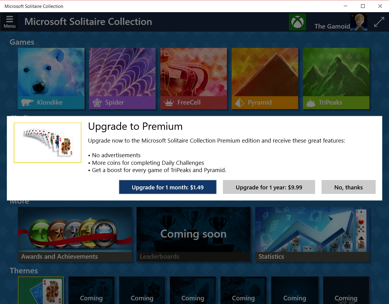 Want Solitaire Ad-Free On Windows 10? That'll Cost You
