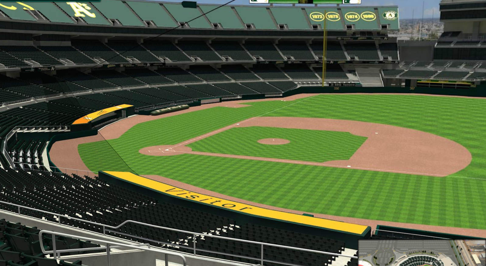 This is the view from the plaintiff's section at O.co  Coliseum. The lawsuit claims that only the pricey VIP seats are protected by safety netting.