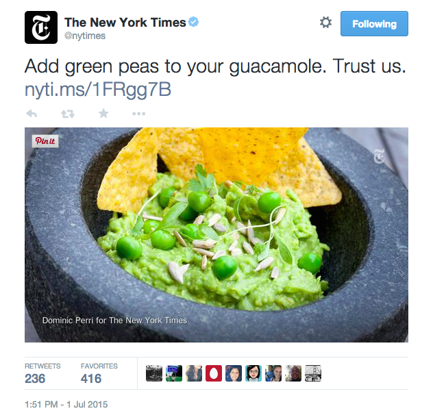 No, New York Times, No One Wants To Put Peas In Their Guacamole