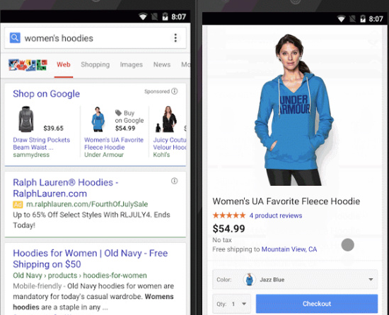 Google Begins Testing Buy Button On Select Mobile Searches