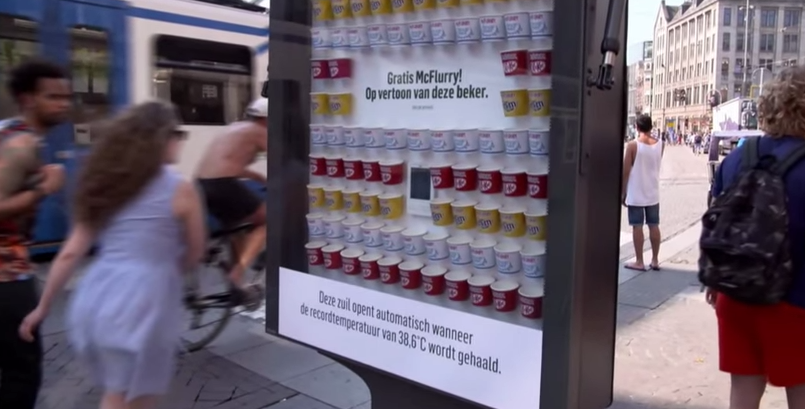 McDonald's Billboard Offers Free McFlurries For The Hot & Hungry
