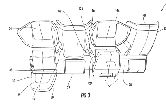The new design creates alternating seat positions.
