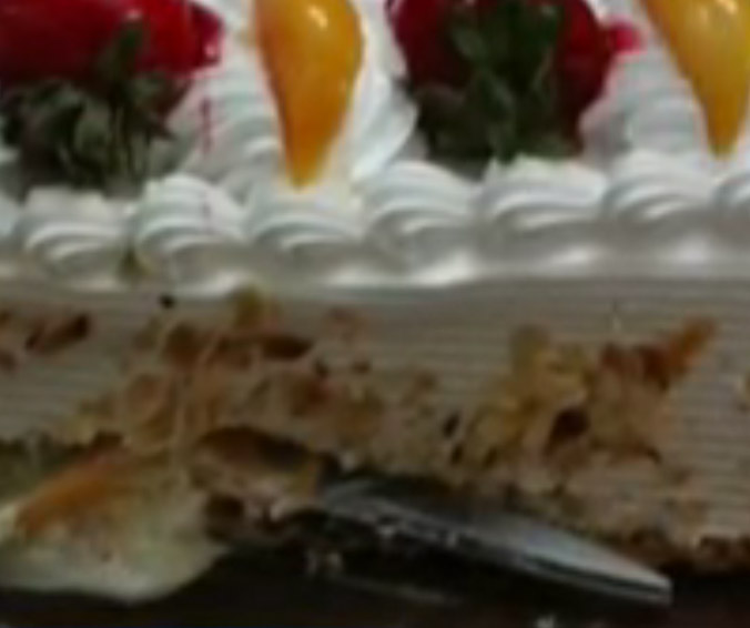 Surprise Birthday Party Includes Surprise Scissors Baked Inside Cake