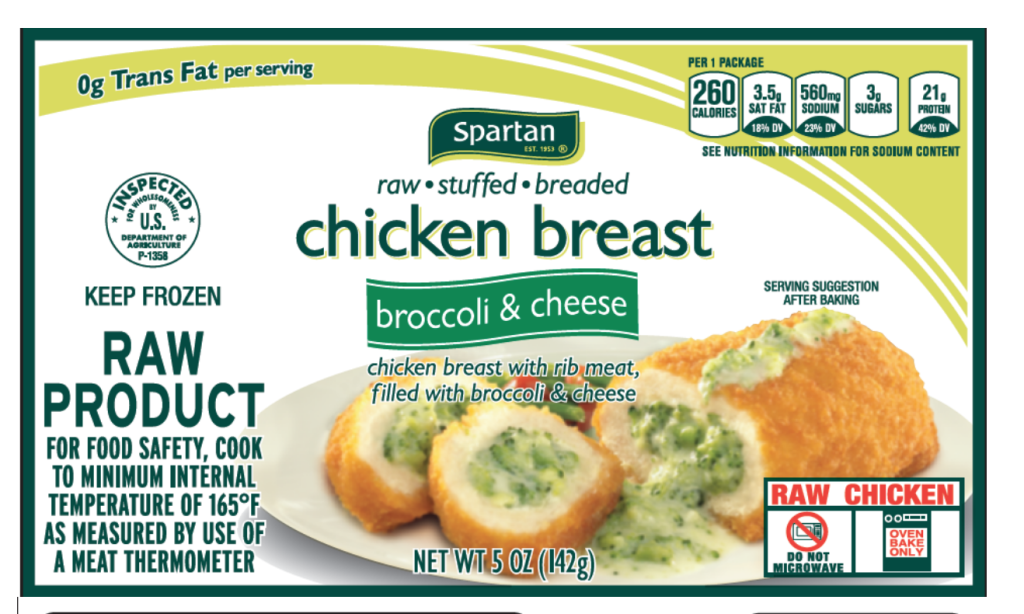 One example of a frozen chicken breast package that's part of this recall.