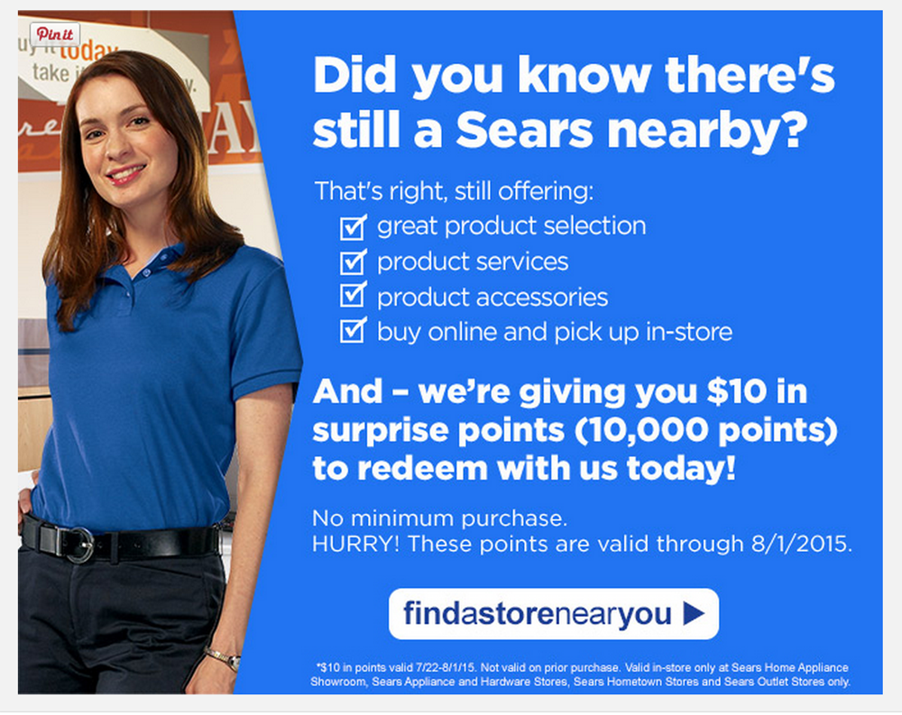 Sears Hometown Wants To Remind You That They're Still Here