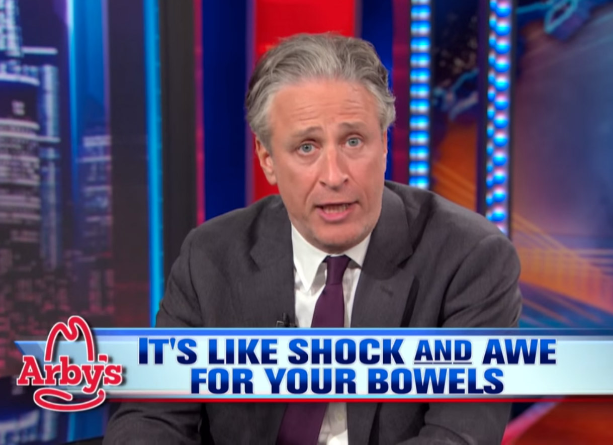 Arby's Plays Along, Sees Jon Stewart Off Into The Meat-Hued Sunset
