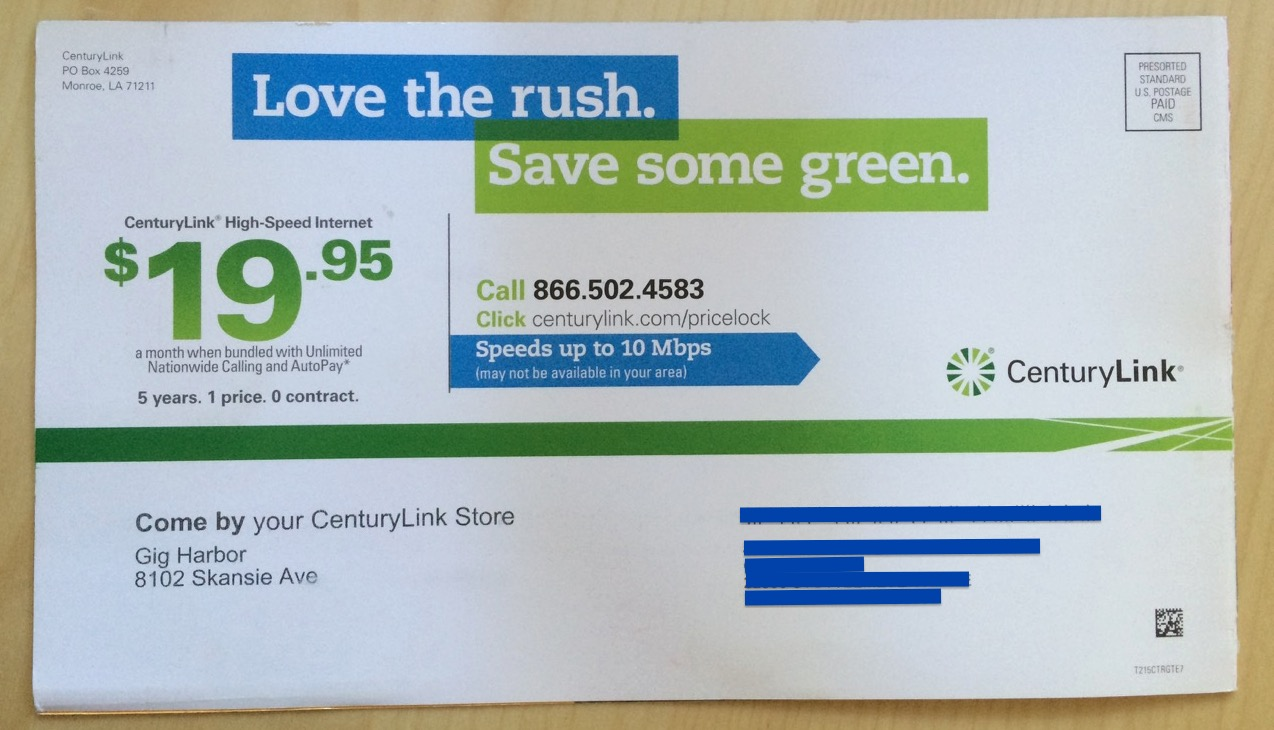 POSTSCRIPT: Even After Embarrassing Story, CenturyLink Still Has No Idea That This House Is Not On Their Network