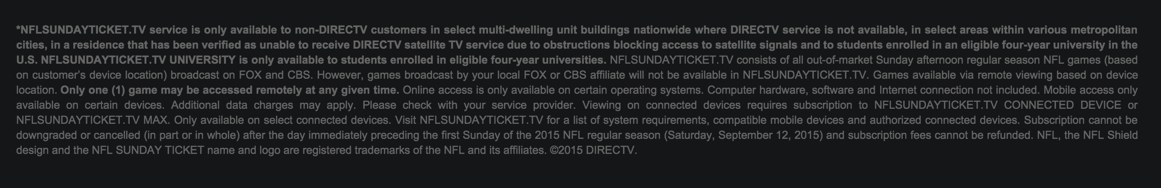 how to get a discount on nfl sunday ticket