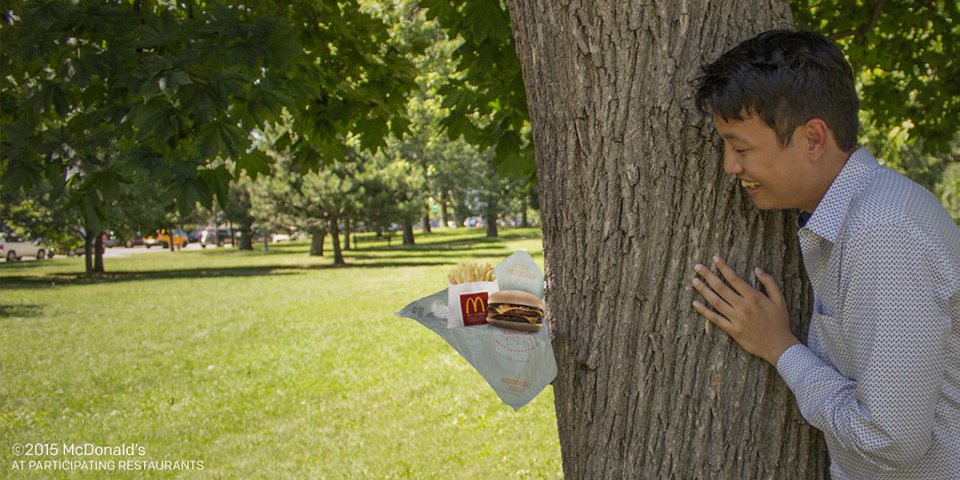 McDonald's appears to have imitated a viral photo series for a new Twitter campaign. The ads, which included this photo, have been taken down.