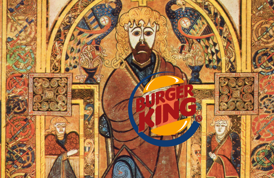 "Trinity College Dublin had to convince Burger King that its trademark for ""BK Merchandise"" was about selling prints from the Book of Kells, not hamburgers and chicken fries."