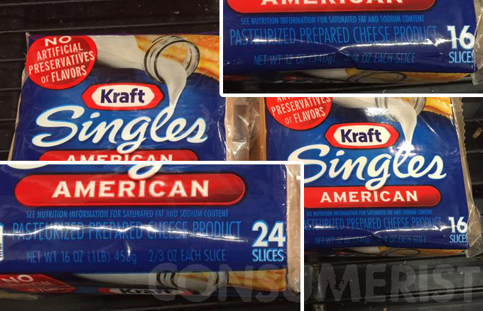 Bigger Packages Of Kraft Cheese Slices Have Smaller Slices, No One Will Tell Us Why