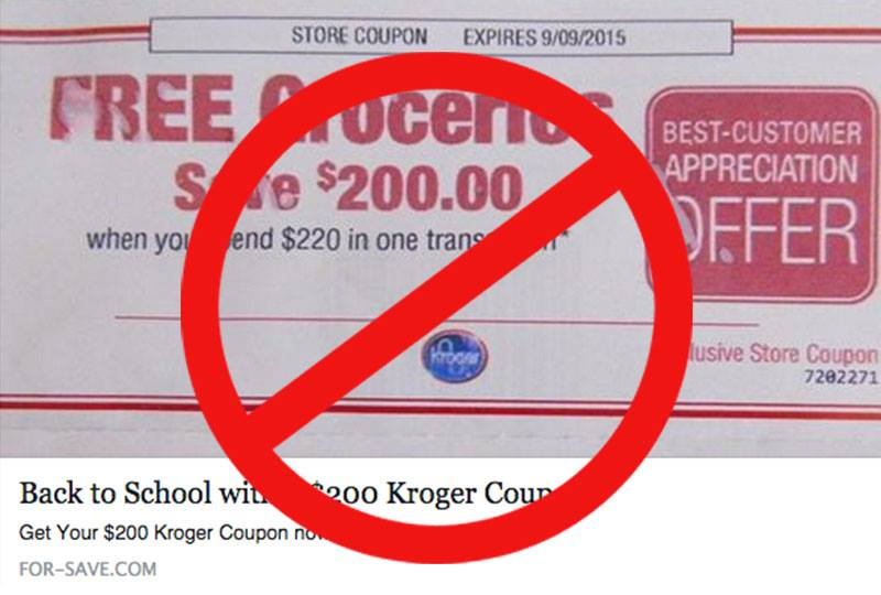 Surprise! This $200 Off Kroger Coupon Is Actually A Scam