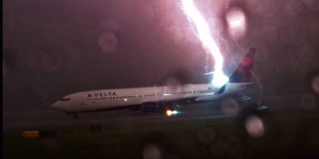 Traveler Captures Video Of Delta Plane Being Struck By Lightning On Runway