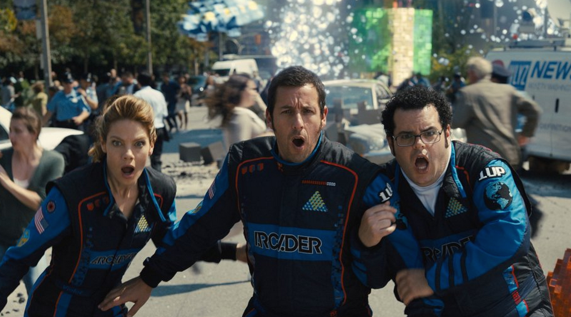 "Just like he didn't invent the concept of a lovable, sporadically violent manchild, Adam Sandler is not the first to use the term ""Pixels"" to describe a video."