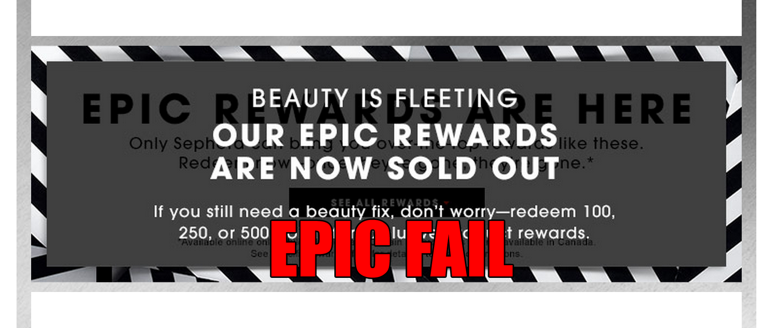 Sephora Promises Epic Rewards, Customers Get Epic Letdown