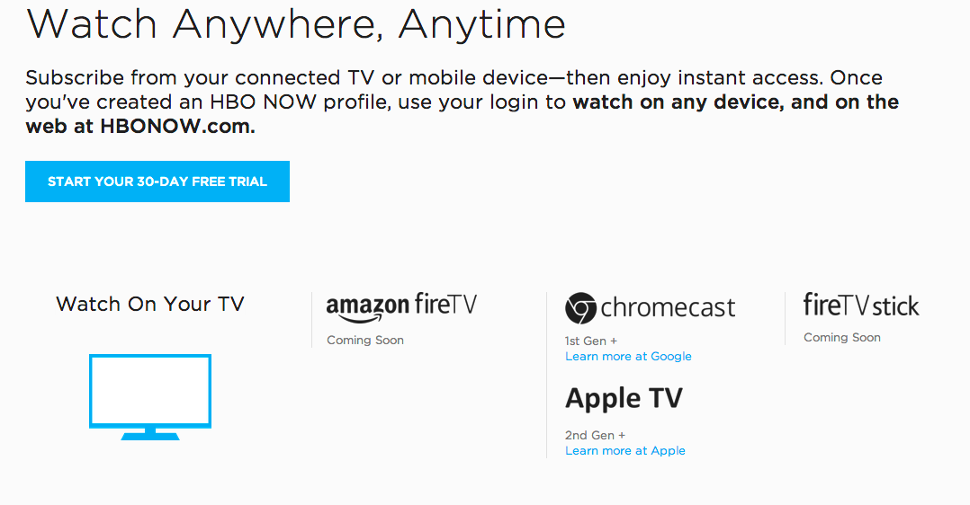 HBO Now Adds Chromecast Support
