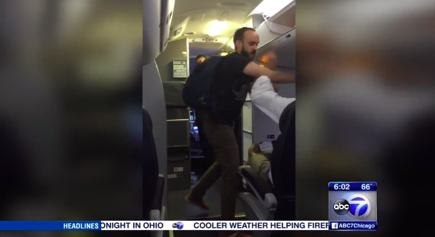 A video of the incident shows the man getting punching another passenger.