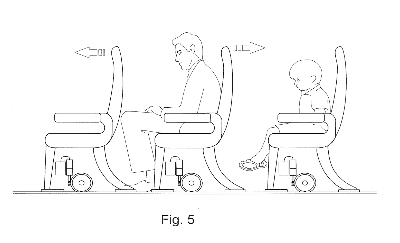Awe Inspiring Patent Would Have Airlines Sort Passengers By Height Then Bralicious Painted Fabric Chair Ideas Braliciousco
